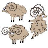 Illustrazione delle pecore di Dancing. insieme dell'animale. Immagini Stock