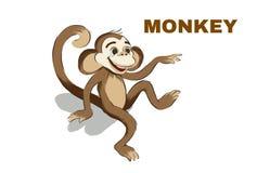 Illustrazione delle risate sveglie della scimmia fumetto illustrazione di stock