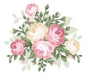 Illustrazione delle rose dell'annata. Fotografia Stock