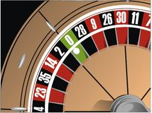 Illustrazione delle roulette Fotografia Stock Libera da Diritti