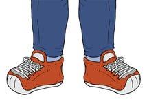 Illustrazione delle scarpe da tennis Immagine Stock Libera da Diritti