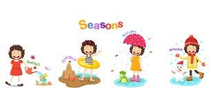 Illustrazione delle stagioni illustrazione vettoriale