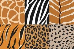 Illustrazione delle strutture della pelle animale, modelli del fondo Fotografie Stock Libere da Diritti