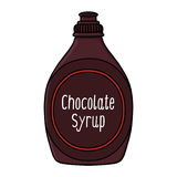 Illustrazione dello sciroppo di cioccolato Fotografia Stock Libera da Diritti