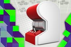 illustrazione dello slot machine 3d Fotografia Stock Libera da Diritti