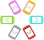 Illustrazione dello smartphone Fotografie Stock Libere da Diritti