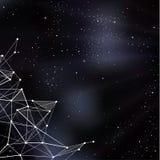 Illustrazione dello spazio di vettore Fondo stilizzato del outerspace con la p Fotografie Stock