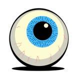 Illustrazione dettagliata del bulbo oculare blu illustrazione vettoriale