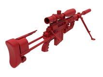 Illustrazione dettagliata del fucile di tiratore franco Immagine Stock