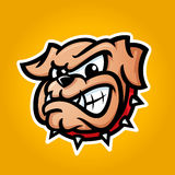 Illustrazione dettagliata della testa del bulldog Immagini Stock Libere da Diritti