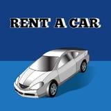 Illustrazione di affitto un'automobile Immagini Stock Libere da Diritti