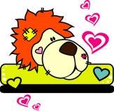 Illustrazione di amore di vettore del leone Fotografie Stock Libere da Diritti