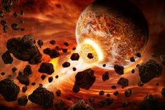 Illustrazione di apocalisse di Eart del pianeta royalty illustrazione gratis