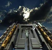 Illustrazione di architettura futuristica del grattacielo Fotografia Stock