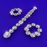 Illustrazione di arte del diamante di figura di tasso di interesse Fotografia Stock Libera da Diritti