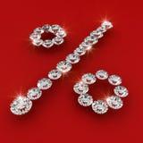 Illustrazione di arte del diamante di figura di tasso di interesse Immagine Stock Libera da Diritti