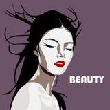 Illustrazione di ARTE del Giappone VEKTOR della ragazza di geisha Fotografia Stock