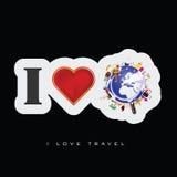 Illustrazione di arte dell'icona di viaggio di amore Immagine Stock Libera da Diritti
