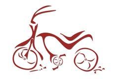 Illustrazione di arte di una bici rossa Fotografia Stock Libera da Diritti