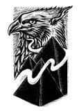 Illustrazione di arte di progettazione del risingk di Eagle royalty illustrazione gratis