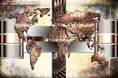 Illustrazione di arte di progettazione della pittura della mappa di mondo illustrazione di stock