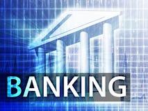 Illustrazione di attività bancarie Immagini Stock Libere da Diritti