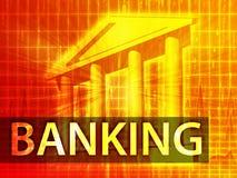 Illustrazione di attività bancarie Immagine Stock