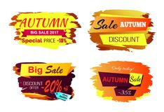 Illustrazione di Autumn Big Sale Offer Vector Illustrazione di Stock