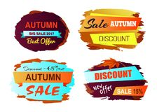 Illustrazione di Autumn Discount Best Offer Vector Fotografia Stock Libera da Diritti