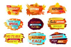 Illustrazione di Autumn Discount New Offer Vector royalty illustrazione gratis