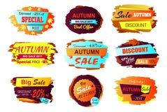 Illustrazione di Autumn Sale Best Offer Vector Illustrazione Vettoriale