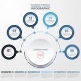 Illustrazione di base del modello di progettazione di Infographics di affari illustrazione di stock