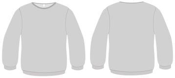 Illustrazione di base di vettore del modello del maglione Immagine Stock