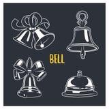 Illustrazione di Bell logotypes e distintivi illustrazione di stock