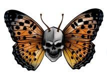 Illustrazione di bella farfalla variopinta che vola illustrazione di stock