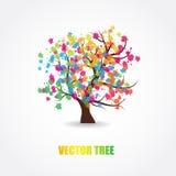 Illustrazione di bello albero della sorgente Fotografia Stock