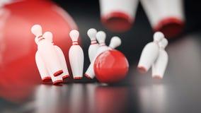 Illustrazione di bowling 3d Immagini Stock