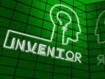 Illustrazione di Brain Means Innovating Invents 3d dell'inventore Immagine Stock Libera da Diritti