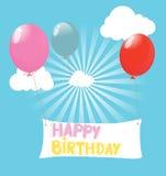 Illustrazione di buon compleanno Fotografie Stock Libere da Diritti
