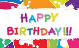 Illustrazione di buon compleanno. Fotografie Stock
