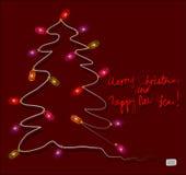 Illustrazione di Buon Natale e del buon anno Immagini Stock Libere da Diritti