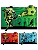 Illustrazione di calcio di gioco del calcio Fotografia Stock