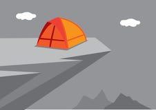 Illustrazione di campeggio di vettore di avventura illustrazione vettoriale