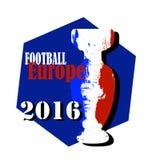 Illustrazione di campionato di Europa di calcio con la bandiera della Francia Fotografia Stock