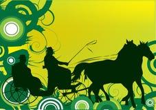 Illustrazione di cariage del cavallo Immagine Stock Libera da Diritti