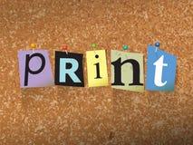 Illustrazione di carta di concetto appuntata stampa Fotografia Stock