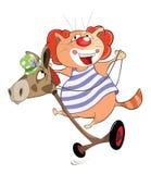 Illustrazione di Cat Clown sveglia Personaggio dei cartoni animati illustrazione di stock
