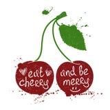 Illustrazione di Cherry Silhouette Immagine Stock Libera da Diritti