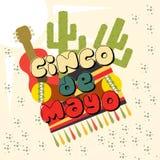 Illustrazione di Cinco de Mayo Fotografia Stock Libera da Diritti