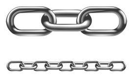 Illustrazione di collegamenti chain del metallo Fotografia Stock